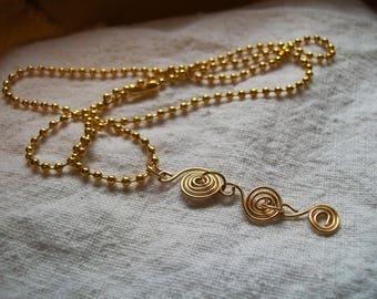 Swirl Necklace, necklace pendant, Spiral necklace, Golden necklace, Swirl Necklaces, Spiral necklaces, Unique Jewelry