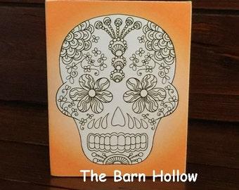 Adult Coloring - Skull Box