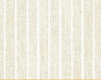 Half Yard Hidden Cove - Stripe in Cream - Cotton Quilt Fabric - by Sue Schlabach for Windham Fabrics - 40434-4 (W3035)