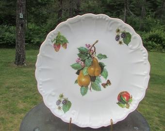 Fruit West Germany Plate Decorative Golden Crown E&R
