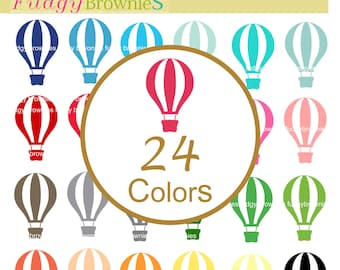 Hot air balloons clip art,balloonsclip art ,hot air balloon Clipart, instant download