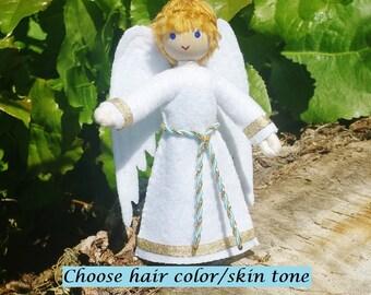 Angel Doll  Boy - Christmas Angel - Boy Guardian Angel - Bendy Doll - Kindness - Boy Angel