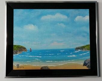 Blue Horizon- Original Oil by Stephen Poulter