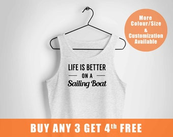 Sailing Boavest ,Boating Gifts,Nautical Anchor vest,Sailing vest or Gift For Sailors,Captain Gift Tee vest,Life is Better Sailing To,