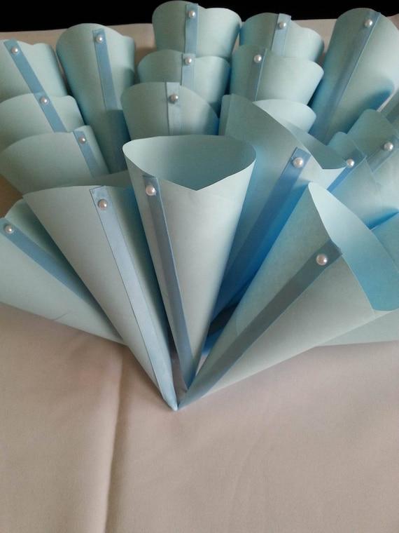 Blue wedding cones wedding petal cones confetti wedding like this item mightylinksfo Image collections