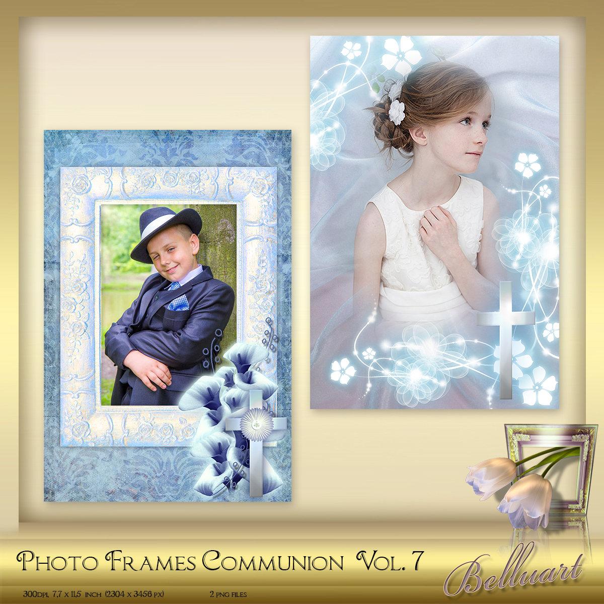 2 digital foto marcos primera comunión confirmación vol. 7 - marco ...