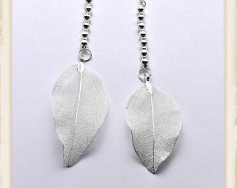 Silver Whispers Earrings
