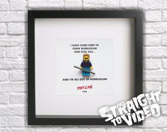 They Live / Roddy Piper / John Carpenter Framed Mini Figure