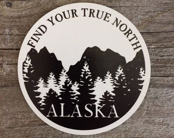 Due North Stationery, Find Your True North, Alaska Magnet