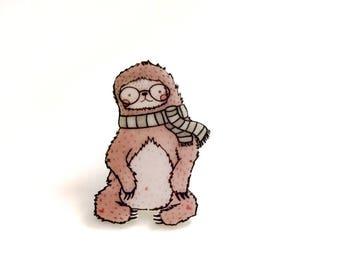 Cute Pins // Sloth Pin // Gift for Friend Birthday // Flair Pin // Sloth Gift //  Funny Pins // Fashion Pin