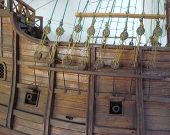 Wooden galleon Wooden boat Boat to scale.