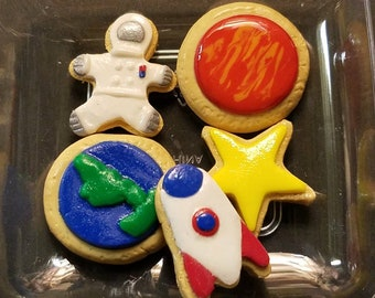 """Space themed cookies for  18"""" Dolls  (American Girl, Springfield, Our Generation...)"""