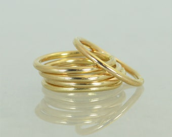 Round Classic Gold Stackable Ring(s), 14k Gold Filled, Gold Stacking Rings, Gold Stack Rings, Simple Gold Ring, Round Gold Rings, Gold Bands