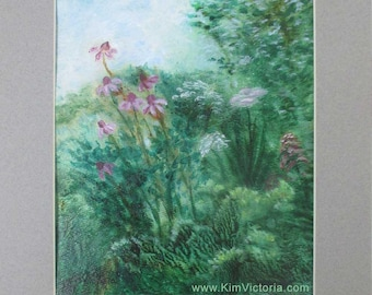 Acrylic Painting Country Garden
