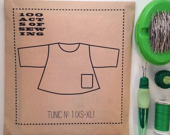 100 Acts of Sewing: Tunic No. 1 - Sewing Pattern  (sizes XS-XL)