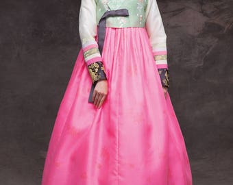 Hanbok. Luxury Korean Traditional Costume. Custom made KSS-047.