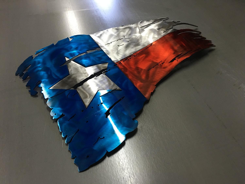 art rustic metal texas tattered listing flag zoom bqcx il wall fullxfull decor