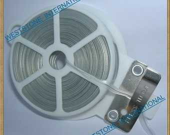 65FT Plastic Twist Tie Spool with Cutter - Clear Flat