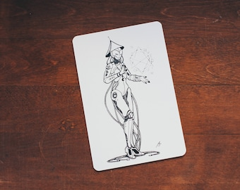 Robot Witch - card size print