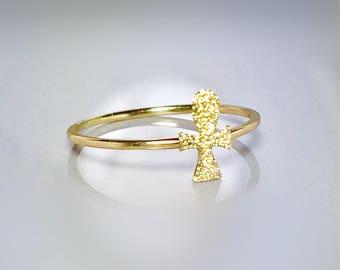 Gold ankh jewelry Etsy