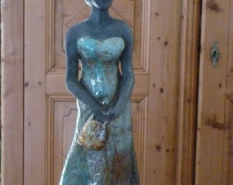 """Bride"" raku sculpture"