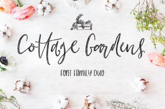 Calligraphy Font, Modern Calligraphy, Digital Fonts, Wedding Font, Invitation Font, Script Font, Digital Download, Cottage Gardens