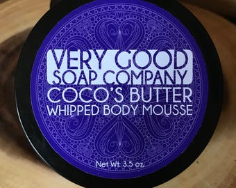 Coco's Butter Whipped Body Mousse  // handmade // body butter // vegan // dye free
