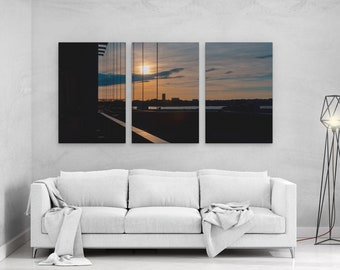 Windows of Manhattan New York - panels art canvas print wall home decor interior design