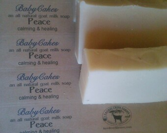 BabyCakes- Peace- an all natural goat milk soap.  Calming & healing