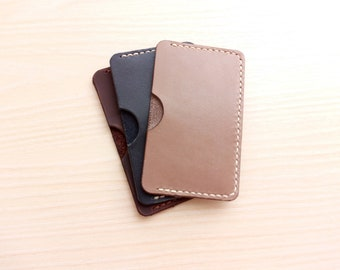 Handmade Leather Card Wallet, Card Holder, Business Card