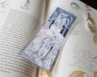 Bookmark Snow Witch Ice Queen Winter Fairy - Tempest of Ice