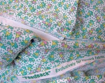 wee tiny bunnies cotton fabric