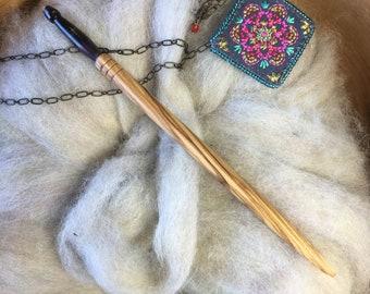 Hair Stick, Adze Woodcraft, Wood, Hand Painted