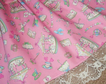 Sweet Circus Carousel Ponies Pastel Fairy Kei Lolita Skirt - ANY SIZE