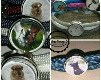 Personalized bracelets with stainless steel Cap
