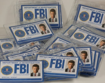 Supernatural ID Badge, Supernatural FBI ID Card,Castiel, Sam, Dean, Supernatural party, Winchester brothers, Supernatural Cosplay,Cosplay