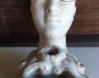 19thc Phrenology Head Ceramic by F Bridges Phrenologist English 1880 Crank Medecine