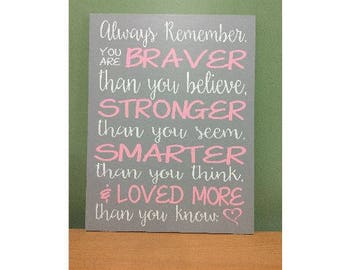 winnie the pooh, hand painted, wood sign, nursery art, inspirational art, pink heart