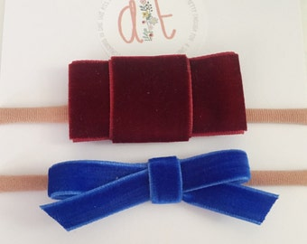 Classic velvet headband duo - one size fits all