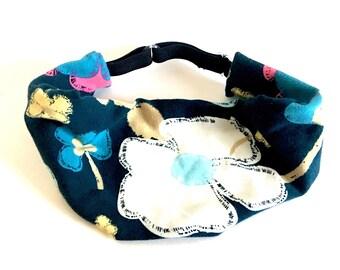 Yoga Headband, Running Headband, Fitness Headband, Workout Headband, Wide Headband, Crossfit Headband, Adjustable Headband - Cotton Jersey