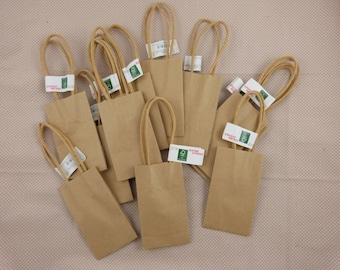 Set of 12 small kraft bags