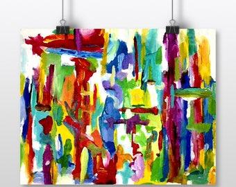 Abstract Art Print, Gallery Wall, 8x10 Art Print, Abstract Wall Art, 8x10 Abstract, 8x10 Print, Small Abstract Art, Abstract Painting
