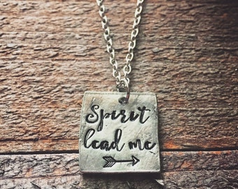 Spirit Lead Me Where My Trust Is Without Borders Necklace