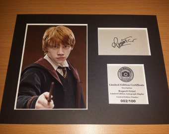 Rupert Grint - Ron Weasley - Harry Potter - Signed Autograph Display - Fully Mounted and Ready To Be Framed