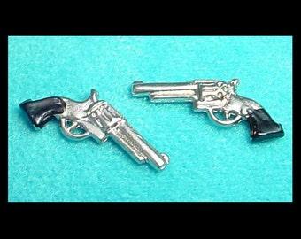 Six-Shooter Pistol Pair Dollhouse Miniature