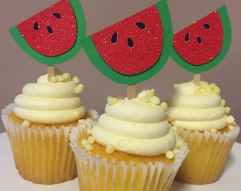 Watermelon Party Cupcake Picks - One in a Melon Party