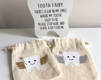 Tooth Fairy, Tooth Fairy Pouch, Tooth Fairy Bag, Tooth Fairy Sign