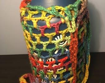 Crocheted Water Bottle Carrier
