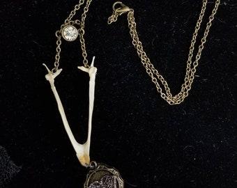 Pheasant beak necklace