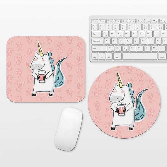 Unicorn Mouse Pad Unicorn Mousepad Pink Mouse Pad Coffee Mouse Pad Mouse Mat Unicorn Lover Gift Cute Mouse Pad Fun Mousepad Desk Accessories